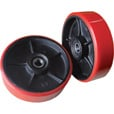 Roughneck Rear Pallet Truck Replacement Wheels — Pair, 7in. Dia. The price is $49.99.