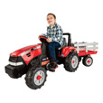 Peg Perego Case International Harvester Pedal Tractor and Trailer, Model# IGCD0554 The price is $299.99.
