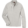 FREE SHIPPING - Gravel Gear Men's Quarter-Zip Fleece Sweater - Platinum, Large The price is $29.99.
