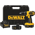 FREE SHIPPING — DEWALT Compact Cordless Drill Kit — 18 Volt, 1/2in., Model# DC720KA The price is $169.00.