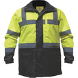 Utility Pro Men's Class 3 High Visibility Parka with Teflon Fabric Protector — Lime/Black, Medium, Model# UHV1004