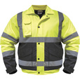 Utility Pro Men's Class 3 High Visibility Bomber Jacket — Lime/Black, XL, Model# UHV562 The price is $39.99.