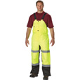 Utility Pro Men's Class E High Visibility Insulated Bib Overall — Lime/Black, XL, Model# UHV500 The price is $79.99.