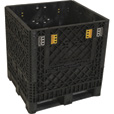 Triple Diamond Plastics Heavy-Duty Collapsible Bulk Storage Container — 32in.L x 30in.W x 34in.H, 2000Lb. Capacity,  Model# TDP-3032-34 The price is $159.99.