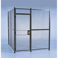 Wirecrafters Pre-Engineered Security Room — 8Ft.L x 8Ft.W x 8Ft.H Panels., 3-Sided, Model# RWHD888-3