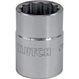 Klutch Socket — SAE, 1 1/8in., 3/4in.-Drive, 12-Pt. The price is $6.99.