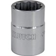Klutch Socket — SAE, 1 1/4in., 3/4in.-Drive, 12-Pt. The price is $7.99.