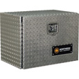 Northern Tool + Equipment Locking Underbody Truck Tool Box — Diamond Plate Aluminum, 24in. The price is $284.99.