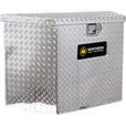 Northern Tool + Equipment Locking Trailer Tongue Tool Box — Tall Style, Diamond Plate Aluminum, 34in. The price is $269.99.