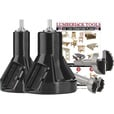 FREE SHIPPING — Lumberjack Tools Commercial Series Tenon Cutter Kit — Starter Kit, 1in. & 2in. Tenon Cutters and Forstner Bits, Model# CSK2