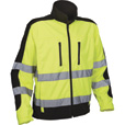 Utility Pro Men's Class 3 High Visibility Softshell Jacket with Teflon Fabric Protector — Lime/Black, 3XL, Model# UHV427 The price is $54.99.