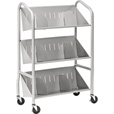 Sandusky Buddy 3-Shelf Book Cart, Model# 5414-3 The price is $289.99.