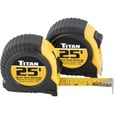 Titan 25-Ft. Tape Measure Twin Pack The price is $9.99.