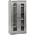 Sandusky Buddy Clearview Stainless Steel Storage Cabinet — 36in.W x 18in.D x 72in.H, Model# SA4V361872-XX The price is $1,669.99.
