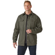 FREE SHIPPING - Gravel Gear Men's 16-Oz. Canvas Fleece-Lined Shirt Jacket - Dark Sage, Medium, Model# S4360M The price is $64.99.
