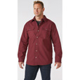 FREE SHIPPING - Gravel Gear Men's 16-Oz. Canvas Fleece-Lined Shirt Jacket - Port Wine, Medium, Model# S4360M The price is $45.49.