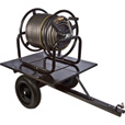 Ironton Trailered Garden Hose Reel — Holds 5/8in. x 400ft. Hose The price is $99.99.