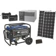 Strongway Complete Solar Power Package with Backup Generator — 1800 Watts in Bypass Mode + 4000 Additional Generator Watts