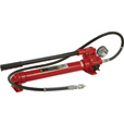 Strongway Hydraulic Pump with Gauge and Hose — 10-Ton Capacity The price is $79.99.