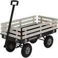 Strongway Garden Wagon with Rails — 1,200-Lb. Capacity, 46 3/8in.L x 23in.W The price is $99.99.
