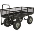 Strongway Steel Jumbo Garden Wagon — 2,200-Lb. Capacity, 60in.L x 31 1/2in. The price is $349.99.