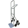 Roughneck Stair Climber Hand Truck — 550-Lb. Capacity, Solid Rubber Tires The price is $94.99.