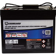 Strongway Deep Cycle Marine Battery — Group Size 24, 12 Volt, 75 Ah, Sealed Lead Acid The price is $189.99.