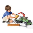 Bruder MACK Granite Timber Truck with Loading Crane and 3 Logs - 1:16 Scale, Model# 02824