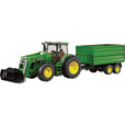 Bruder John Deere 7930 with Front Loader and Tandem Axle Tipping Trailer - 1:16 Scale, Model# 09810