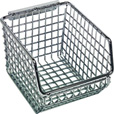 Quantum Wire Mesh Hanging/Stacking Bin —  4 1/4in.W x 5 1/4in.D x 3in.H, Pack of 20, Model# QMB510C The price is $219.99.