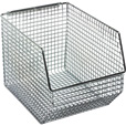 Quantum Wire Mesh Hanging/Stacking Bin —  8in.W x 10 1/2in.D x 7in.H, Pack of 10, Model# QMB539C The price is $199.99.