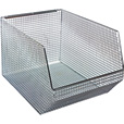 Quantum Wire Mesh Hanging/Stacking Bin —  11in.W x 18 1/2in.D x 10 1/4in.H, Pack of 5, Model# QMB560C The price is $229.99.