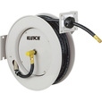 FREE SHIPPING — Klutch Heavy-Duty Auto Rewind Air Hose Reel — With 3/8in. x 50ft. Rubber Hose, Max. 300 PSI The price is $79.99.