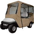 Classic Accessories Fairway 4-Person Golf Cart Travel Enclosure — 4-Person, Long Roof, Light Khaki, 80in.L Roof, Model# 40-046-345801-00 The price is $119.99.