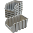 Strongway Medium Stackable Bins — 6-Pk. The price is $9.99.