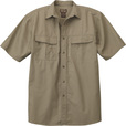 FREE SHIPPING - Gravel Gear Men's Cotton Ripstop Short Sleeve Work Shirt with Teflon Fabric Protector — Khaki, 2XL The price is $29.99.
