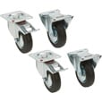 Ironton Rubber Casters — 4-Pack, 4in., 650-Lb. Capacity/Set, 155-Lb. Capacity Each The price is $18.74.