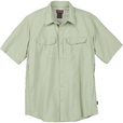 FREE SHIPPING - Gravel Gear Men's UPF 30 Quick-Dry Polyester Ripstop Shirt - Short Sleeve, Light Sage, Large