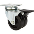 Strongway 3in. Swivel Dual-Wheel Caster with Brake — 220-Lb. Capacity, Polypropylene Wheels The price is $15.99.