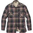 FREE SHIPPING - Gravel Gear Men's Sherpa-Lined Flannel Shirt Jacket - Black/Red, 2XL