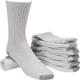 FREE SHIPPING - Gravel Gear Men's Cotton Blend Crew Socks - 6 Pairs The price is $7.99.