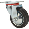 Ironton 3in. Swivel Rubber Caster — 110-Lb. Capacity The price is $3.74.