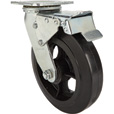 Strongway 8in. Heavy-Duty Swivel Rubber Caster with Brake — 800-Lb. Capacity The price is $24.74.
