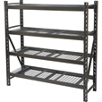 Strongway Steel Shelving — 72in.W x 24in.D x 72in.H, 4 Shelves The price is $199.99.