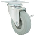 Strongway 3in. Swivel Nonmarking Rubber Caster with Brake — 155-Lb. Capacity The price is $5.69.