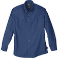 FREE SHIPPING — Gravel Gear Men's Wrinkle-Free Long Sleeve Work Shirt with Teflon Fabric Protector — Blue, 2XL The price is $23.99.