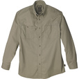 FREE SHIPPING — Gravel Gear Wrinkle-Free Long Sleeve Work Shirt with Teflon Fabric Protector — Khaki, Large The price is $27.99.