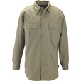 FREE SHIPPING — Gravel Gear Men's Cotton Ripstop Long Sleeve Work Shirt with Teflon Fabric Protector — Khaki, XL The price is $29.99.