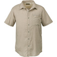 FREE SHIPPING — Gravel Gear Men's Short Sleeve Chambray Shirt with Teflon Fabric Protector — 2XL, Khaki The price is $23.99.