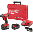 FREE SHIPPING — Milwaukee M18 FUEL 1/4in. Hex Impact Driver Kit — With 2 Extended Capacity Batteries, 5.0Ah, Model# 2753-22